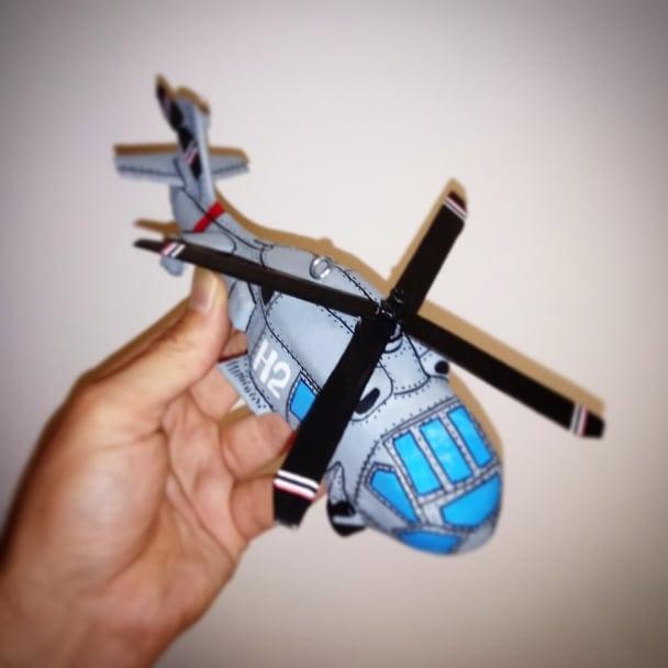 decoracion, helicoptero, papel cartón, niños, habitación