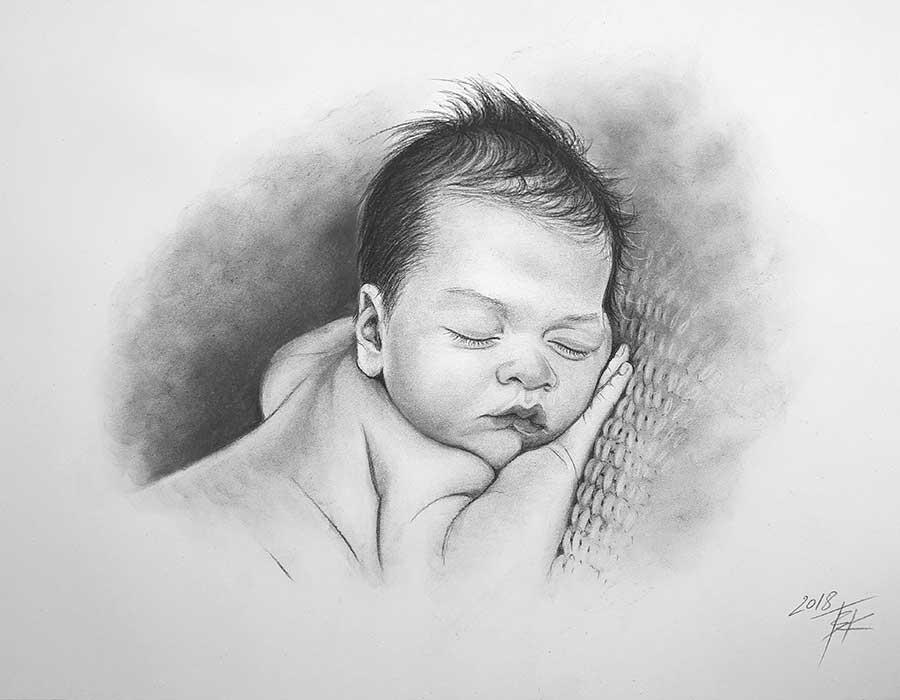 retratos, carboncillo, oleo, pintura, color, pastel, lienzo, papel acrilico, acuarela, colage, fotografias, bebes, niños