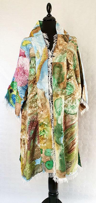 abrigo de seda natural, vestidos de señora