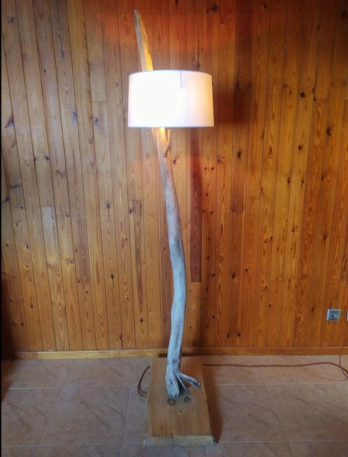 lamparas de madera reciclada, iluminacion, luz, oficina, estudio, led, reciclaje