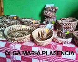 olga maria plasencia. logo, cesteria