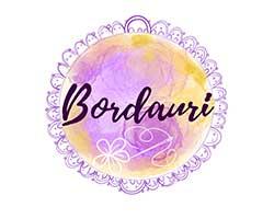 bordauri, logo, bisutería bordada