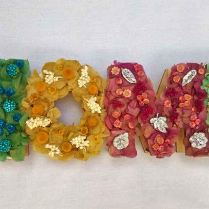 Letras de flores para decoracion