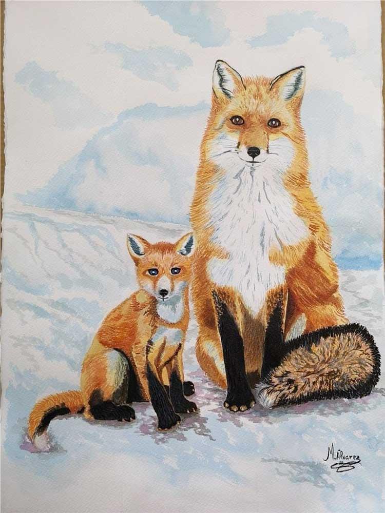 cuadros de animales, retratos, pintura, arte, artesania en cristal