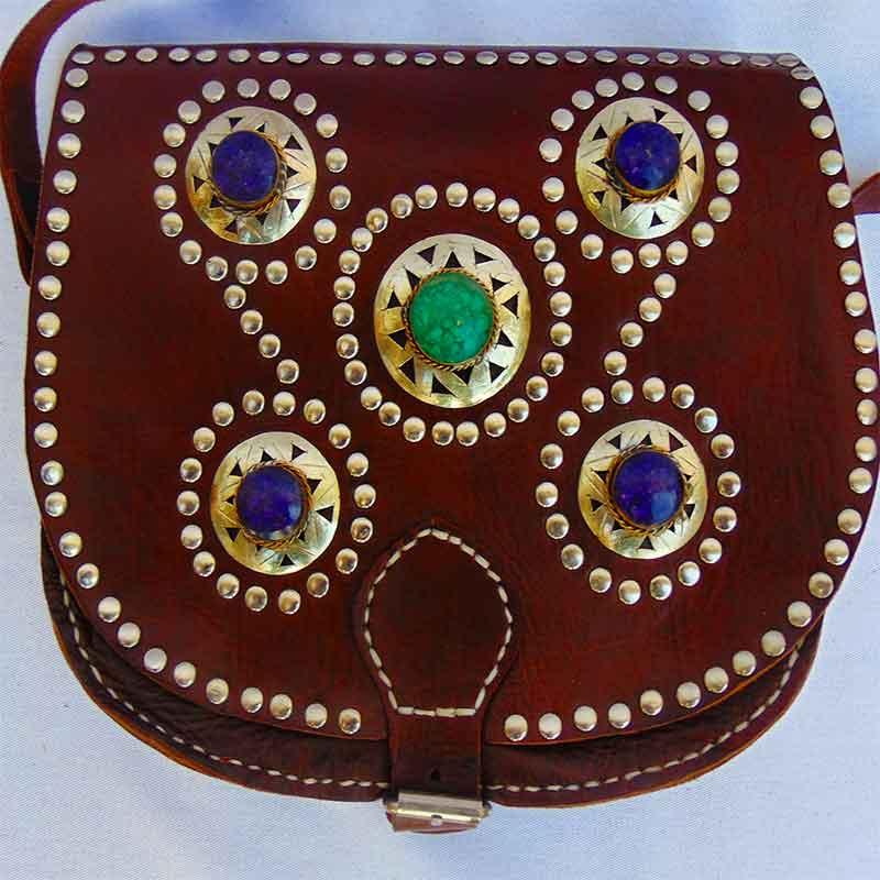 bolsos de cuero marrón