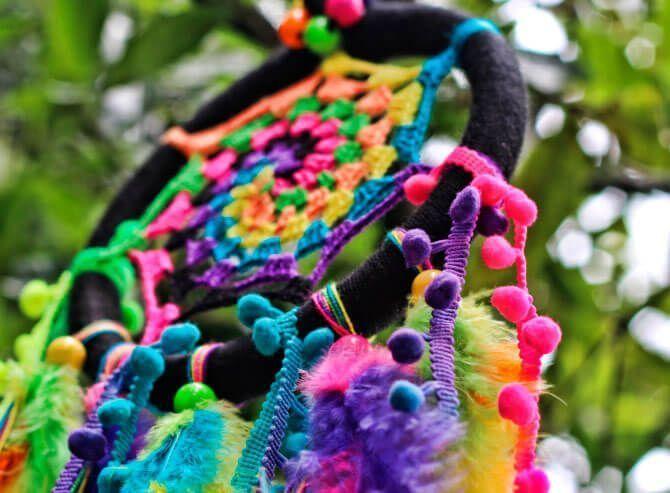 atrapasueños de colores