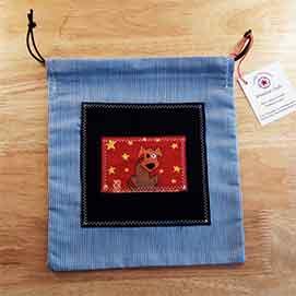 bolsas de tela decorada