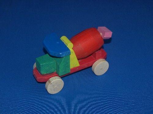 juguetes de madera, hormigonera, niños