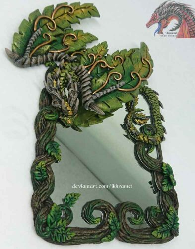 espejos artesanales, decoracion, espejos para niños, artesania, espejos de bolsillo