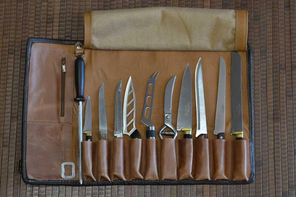 articulos de piel y cuero, jamonero, fundas para cuchillos profesional