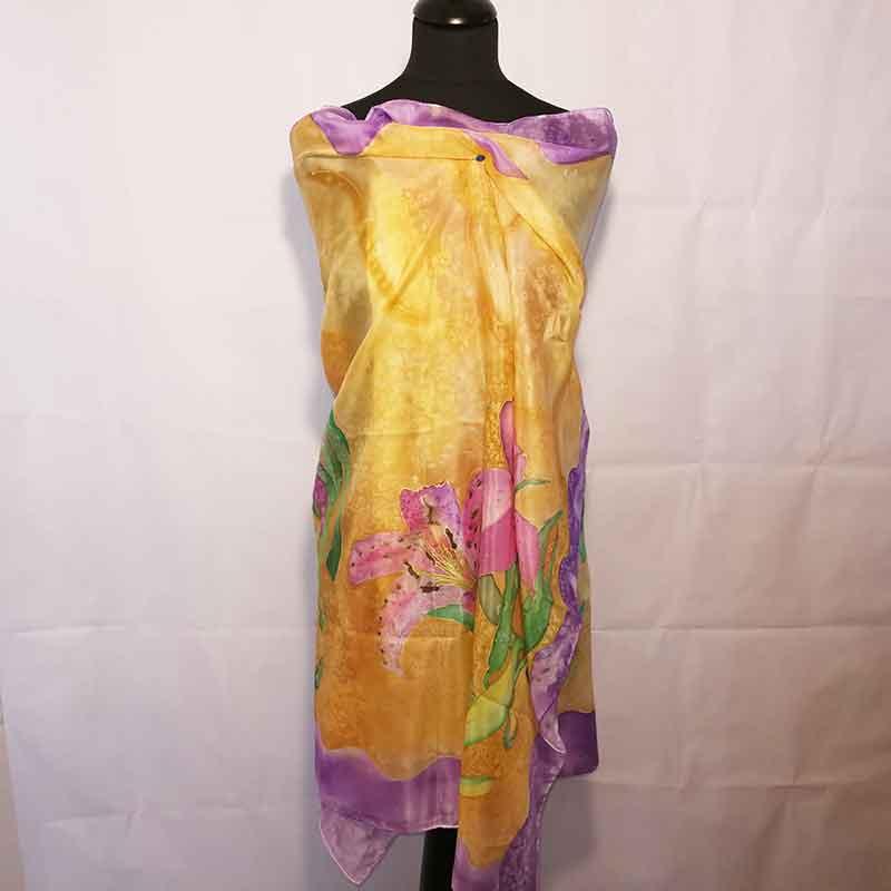 habotai, fular decorados, foulard de mujer