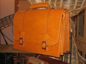 cuero, piel, maletin