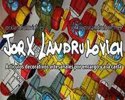 Jorx Landrulovick, logo, articulos decorativos