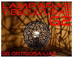 Lámparas y Esculturas G2, logo,