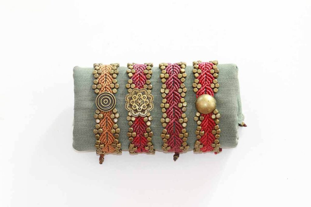 piedras naturales, pulseras, mujer, artesania