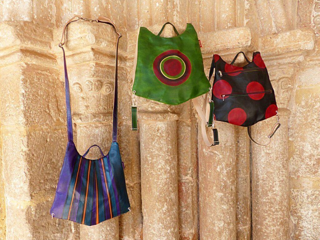 bolsos de piel, mujer, señora, artesania