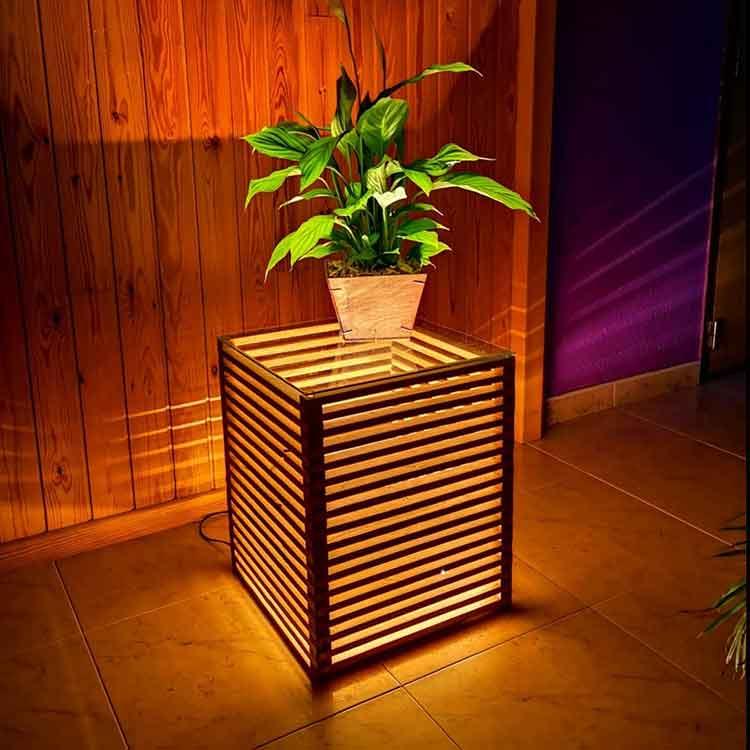 lamparas rusticas de madera, decoracion, iluminacion para la casa, lamparas de mesa