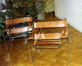 cuero, piel, sillas