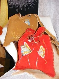cuero, bolsos, mujer