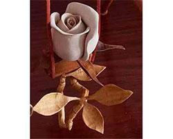 rafael jurado millan, logo, flores de madera