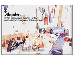 almadera, logo, juguetes de madera para niños