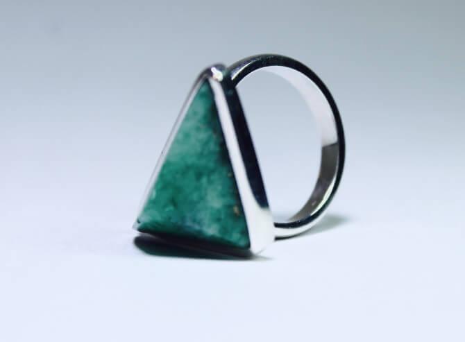 esmeraldas, anillo, mujer, moda, complementos