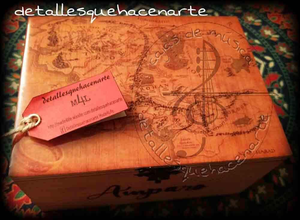 cajas de musica, artesania