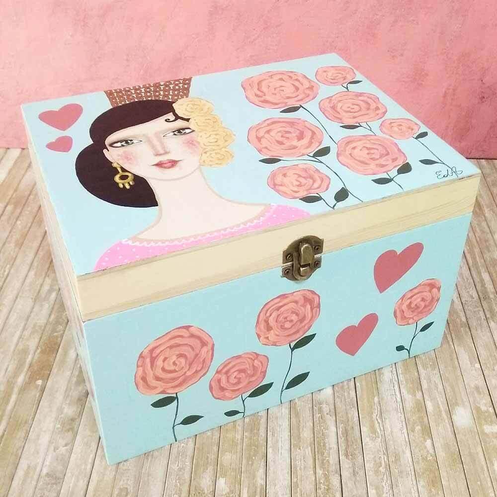 cajas decoradas, madera, artesania