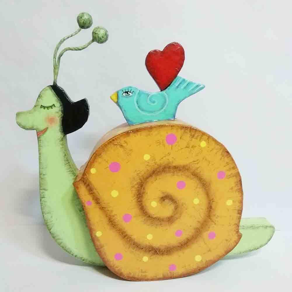 escultura de caracol, diseño, artesania