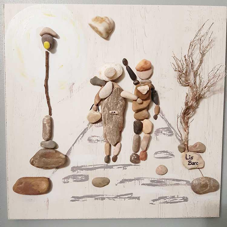 decoracion para el hogar, casa, piedras decoradas