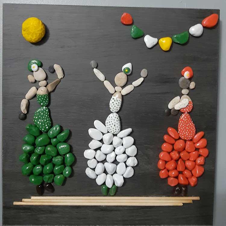 cuadros con piedras, decoracion para el hogar, casa, piedras decoradas