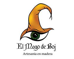 el mago de boj, logo, pendientes y colgantes