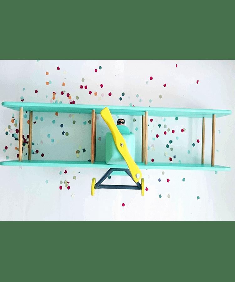 capriccio, decoración, casa, hogar, madera, estanteria, avion