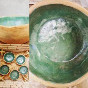 artesania chilena, jarrones, platos, ceniceros, matero, jarras