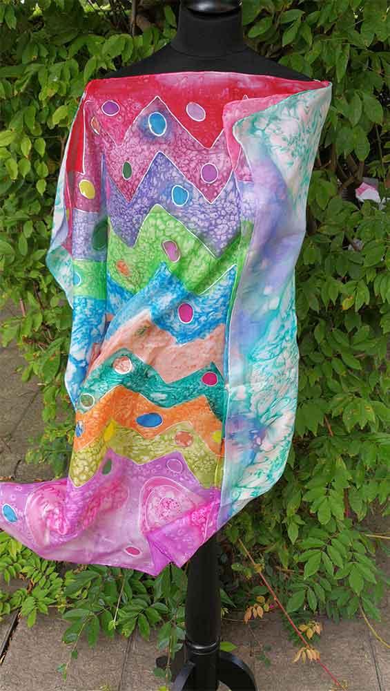 kaftan de seda natural, pañuelo largo de señora, fular, foulard