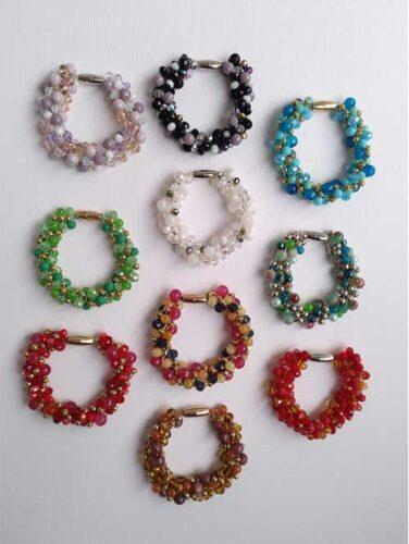 pulseras de mujer, brazaletes con piedras naturales, complementos de señora