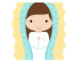 pequeña y dulce maria, logo, para bebes