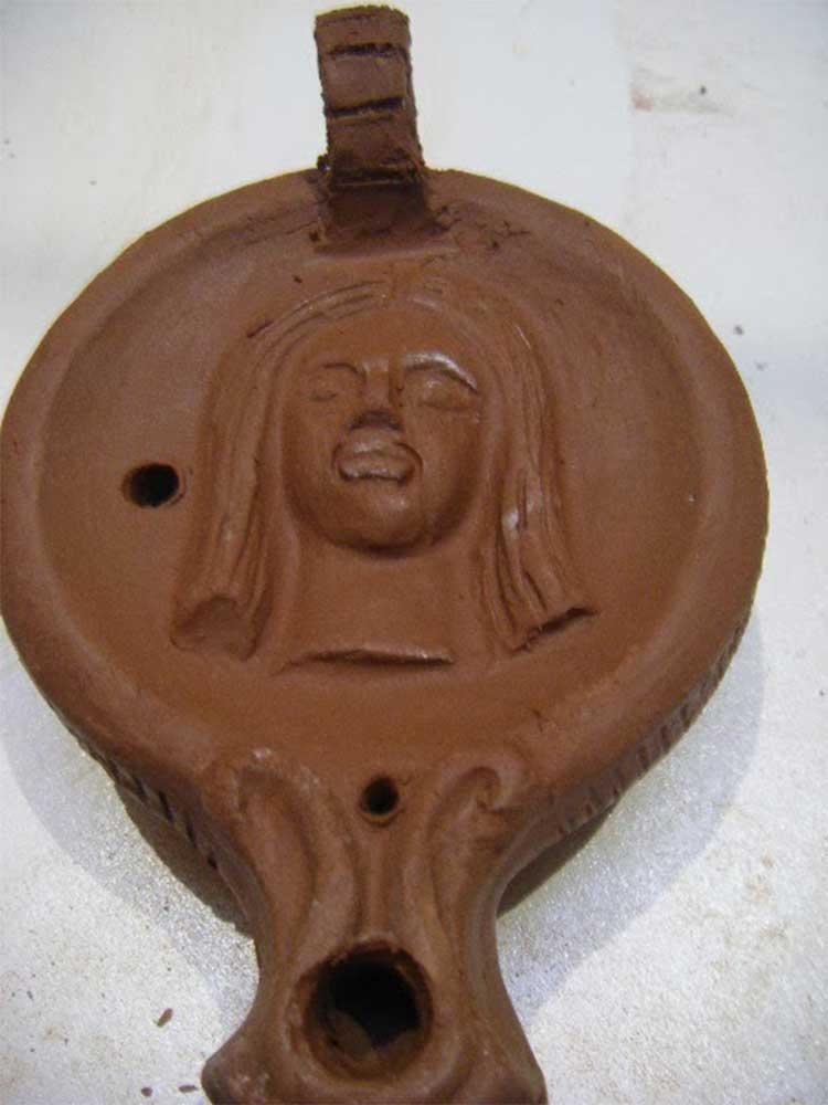 lámparas de aceite de ceramica, artesania, decoracion, hecho a mano