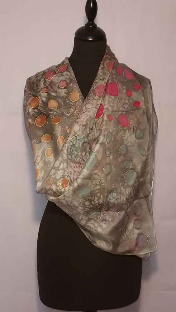 habotai, fular decorados, foulard de mujer, pañuelos de seda