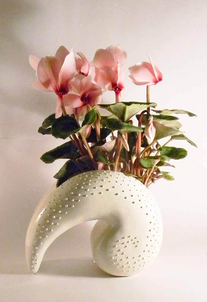ceramica esmaltada, maceteros, tiestos, plantas, flores