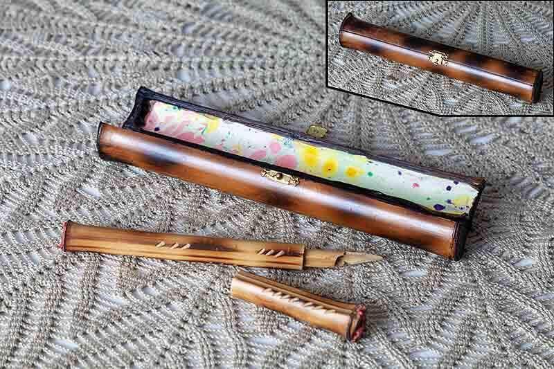 bambu, objetos de escritorio, hecho a mano, artesania