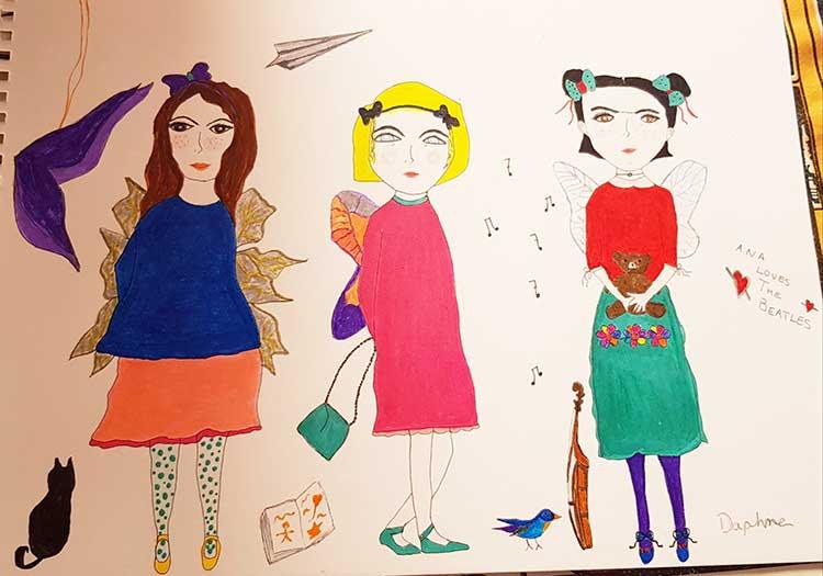 ilustraciones, dibujos, pinturas