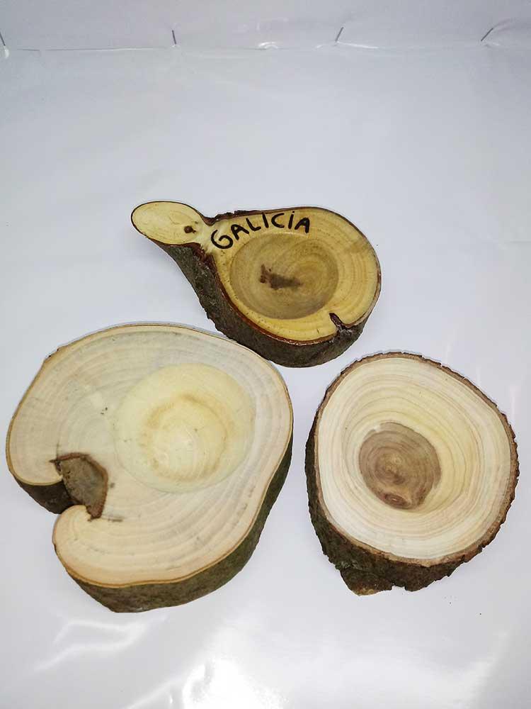 troncos de madera, decoracion, maceteros