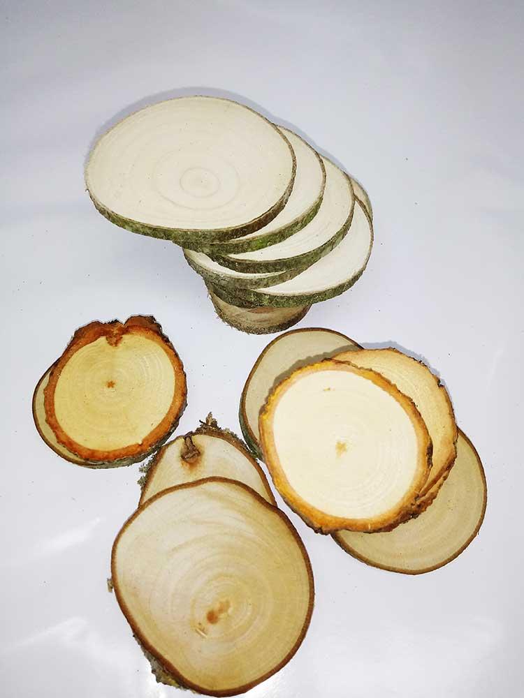 troncos de madera, decoracion, maceteros, posavasos
