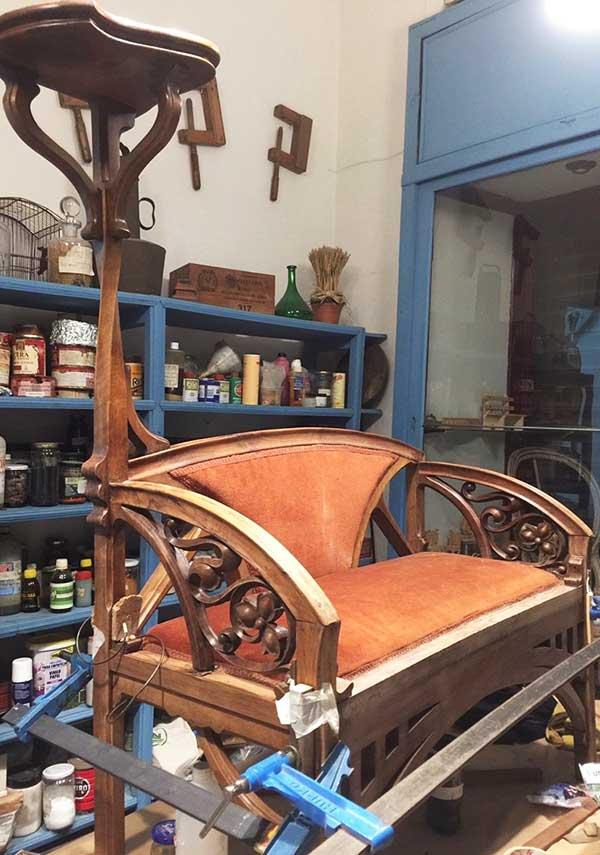 restauracion y conservacion, muebles antiguos, tallas de madera, pintura artistica