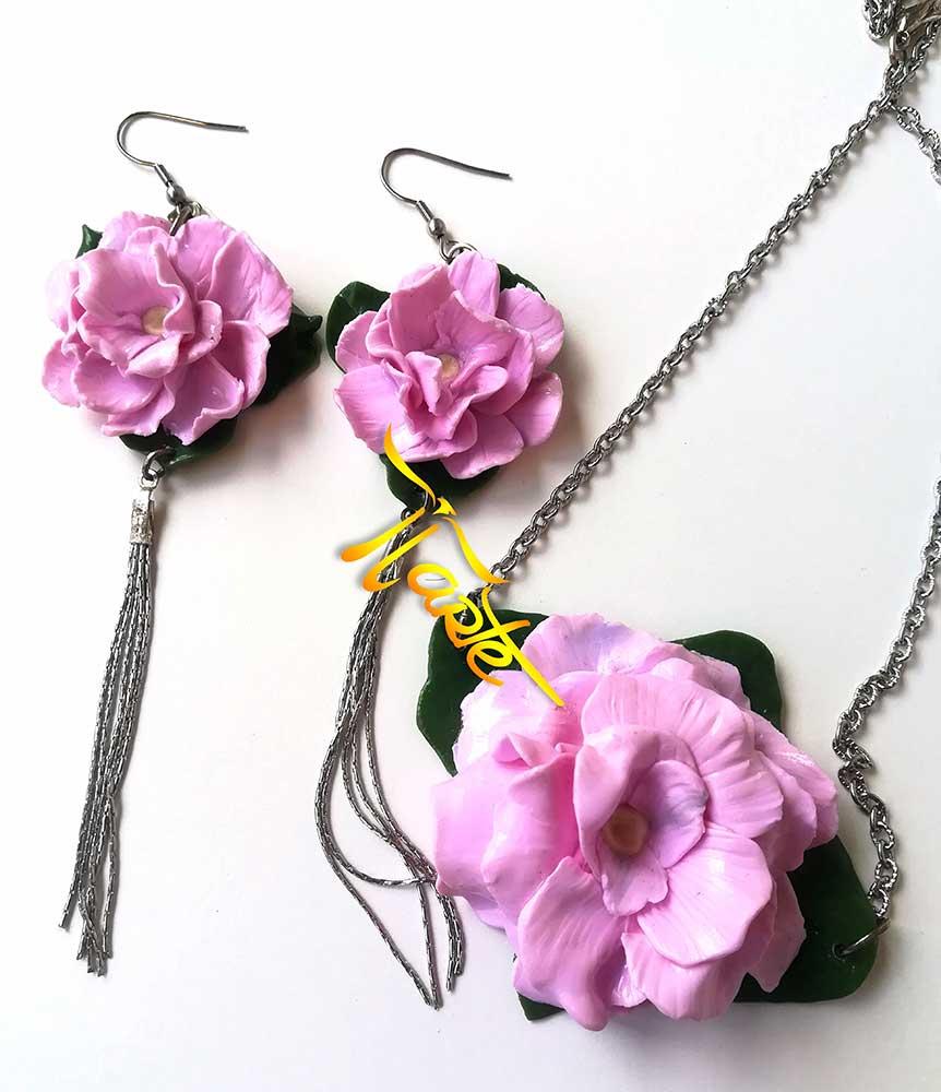 pendientes rosas, pendientes flores, aretes