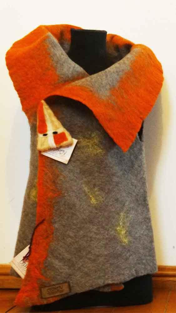 Productos artesanales en fieltro, vestidos, colchas, mantas, zapatos, hombre, mujer