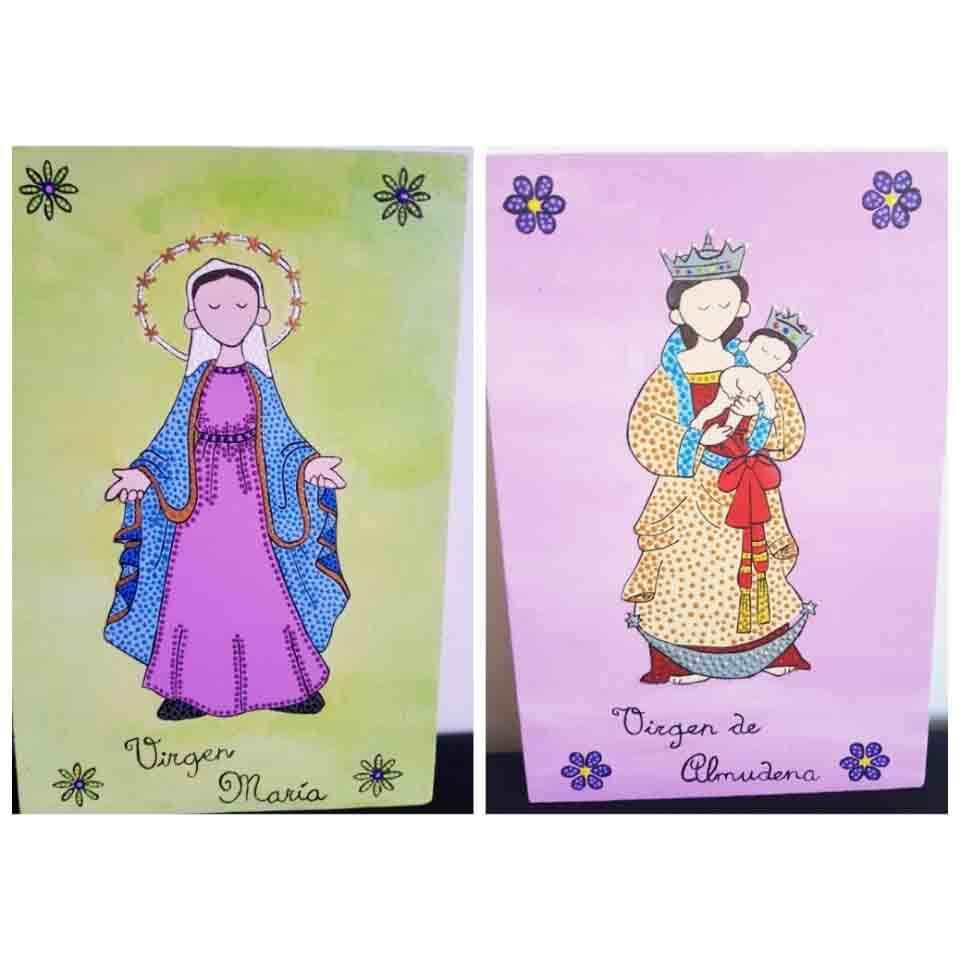 virgen pintada, religion, decoracion para el hogar