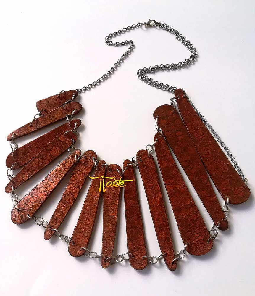 colgantes grandes de madera, diseño español, moda, mujer
