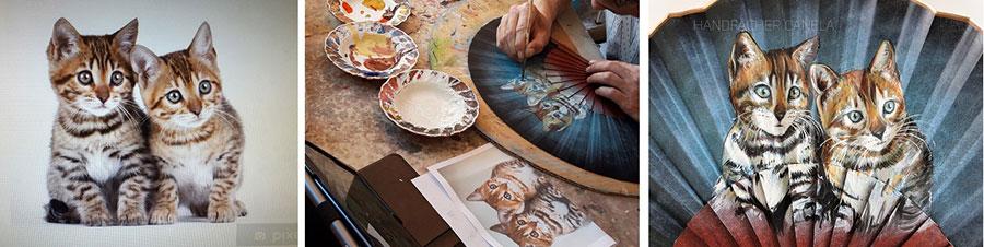 abanicos de madera, abanicos artesanales, abanicos pintados a mano, abanicos decorados